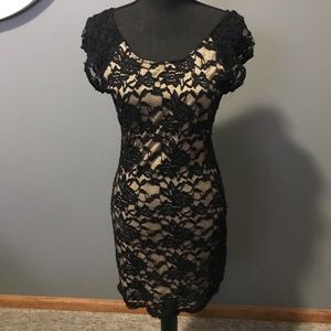 MILLIBON Black Lace Dress